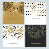 Sistema de fondo abstracto dibujado mano Fotos de archivo libres de regalías