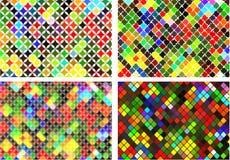 Sistema de fondo colorido brillante abstracto Fotos de archivo libres de regalías
