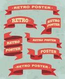 Sistema de fondo de las cintas del vintage Vector Imagenes de archivo
