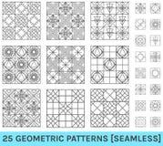 Sistema de fondo geométrico abstracto del zz de 25 modelos Imagen de archivo libre de regalías