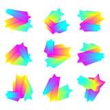 Sistema de fondo geom?trico colorido Composición flúida de la onda Vector Eps10 Elemento del dise?o moderno libre illustration