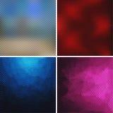 Sistema de fondos abstractos que consisten en los pequeños cubos Imagen de archivo libre de regalías