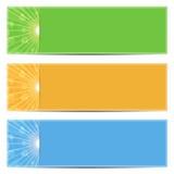 Sistema de fondos coloridos abstractos Fotos de archivo libres de regalías