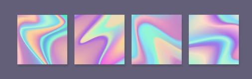 Sistema de fondos coloridos brillantes olográficos Diseño colorido para las tarjetas, las cubiertas, las impresiones o los cartel libre illustration