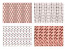 Sistema de fondos con diseños de flores stock de ilustración