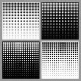 Sistema de fondos de semitono abstractos Foto de archivo libre de regalías