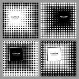 Sistema de fondos de semitono abstractos Fotografía de archivo libre de regalías