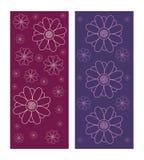 Sistema de fondos decorativos de la textura de la flor en color púrpura y violeta Libre Illustration