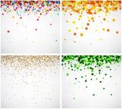 Sistema de fondos del color Imagen de archivo