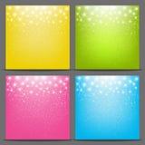 Sistema de fondos estrellados del color libre illustration