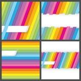Sistema de fondos inconsútiles rayados coloridos Stock de ilustración