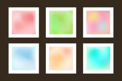 Sistema de fondos lisos Texturas borrosas de la colección libre illustration