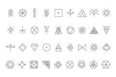 Sistema de formas geométricas Fotos de archivo
