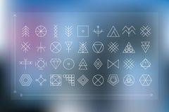 Sistema de formas geométricas del inconformista Imagenes de archivo