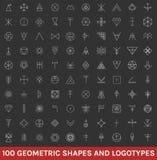 Sistema de 100 formas geométricas del inconformista Fotografía de archivo