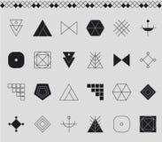 Sistema de formas geométricas del inconformista Fotografía de archivo