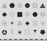 Sistema de formas geométricas del inconformista Fotos de archivo