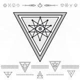 Sistema de formas geométricas del inconformista Foto de archivo libre de regalías