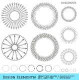 Sistema de formas geométricas del inconformista y de logotypes654 Fotografía de archivo