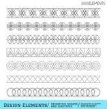 Sistema de formas geométricas del inconformista y de logotypes6548885111 Fotografía de archivo