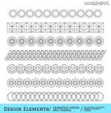Sistema de formas geométricas del inconformista y de logotypes654888511 Imagen de archivo