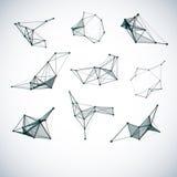 Sistema de formas geométricas del vector abstracto Fotografía de archivo