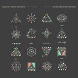 Sistema de formas geométricas mínimas Foto de archivo libre de regalías