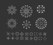 Sistema de formas geométricas mínimas Fotos de archivo