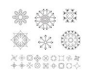 Sistema de formas geométricas mínimas Fotos de archivo libres de regalías