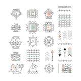 Sistema de formas geométricas mínimas Imágenes de archivo libres de regalías