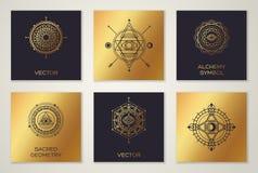 Sistema de formas geométricas mínimas de la geometría sagrada Fotografía de archivo