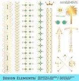 Sistema de formas y de logotipos geométricos del inconformista Fotografía de archivo