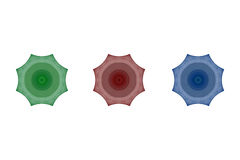 Sistema de fractales del octágono del árbol Stock de ilustración
