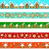 Sistema de fronteras de la Navidad Fotografía de archivo