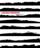 Sistema de fronteras del grunge Foto de archivo libre de regalías