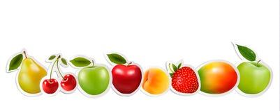 Sistema de fruta sana de la comida Fotos de archivo