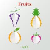 Sistema de frutas stock de ilustración