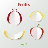Sistema de frutas ilustración del vector