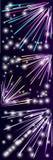Sistema de fuegos artificiales coloridos con las estrellas y las chispas stock de ilustración