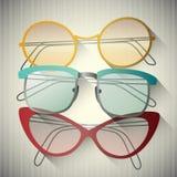 Sistema de gafas de sol retras Foto de archivo