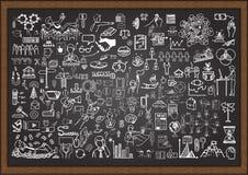 Sistema de garabatos de la situación de negocio en la pizarra libre illustration
