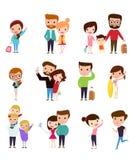 Sistema de gente ilustración del vector