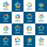Sistema de gente de la unión de los logotipos libre illustration
