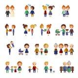 Sistema de gente plana imagen de archivo libre de regalías