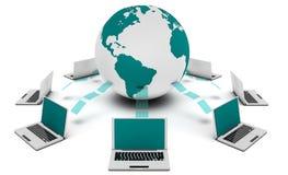 Sistema de gestão satisfeito Imagem de Stock