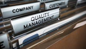 Sistema de gestión de la calidad Imagen de archivo libre de regalías