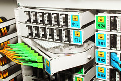 Sistema de gestión del cable óptico de fibra Imagen de archivo libre de regalías