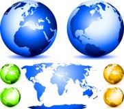Sistema de globos Fotos de archivo