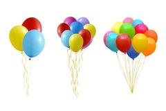 Sistema de globos coloridos Imagen de archivo libre de regalías