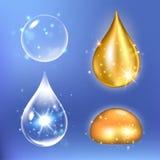 Sistema de gotas de suero y de la vitamina del colágeno Fotografía de archivo libre de regalías
